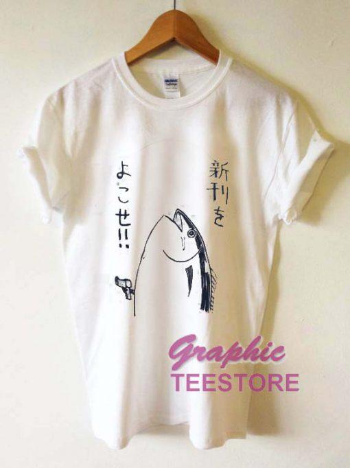 Fish Japanese Graphic Tee Shirts
