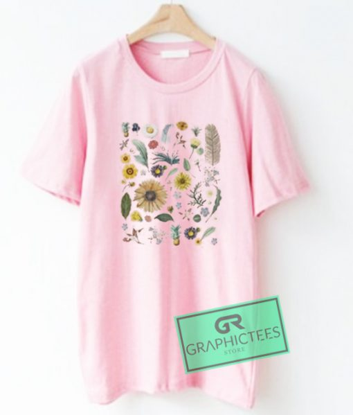 Floral Collage Graphic Tees Shirts