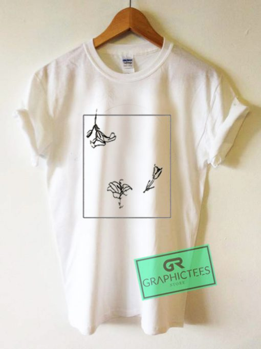 Flower Line Art Graphic Tees Shirts