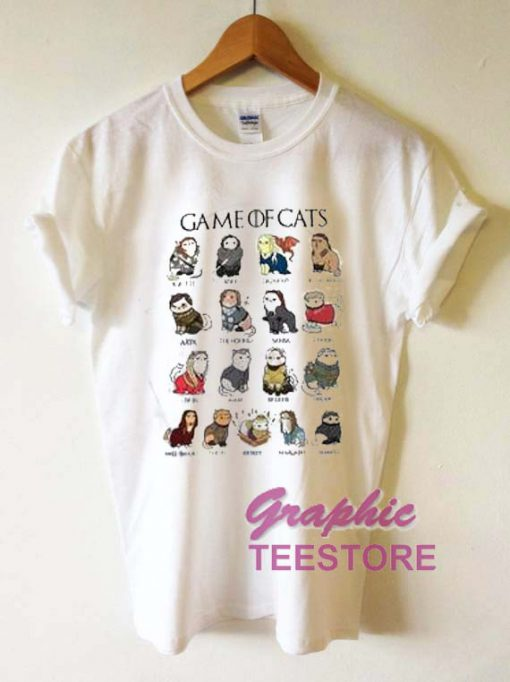 Game Of Cats Graphic Tee Shirts