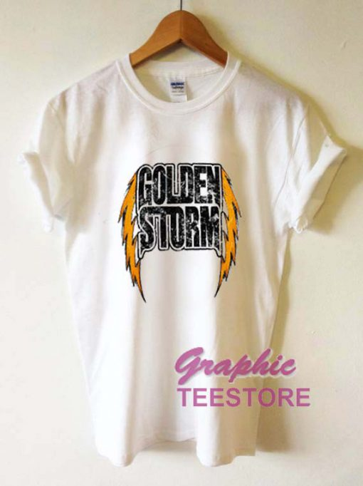 Golden Storm Graphic Tee Shirts
