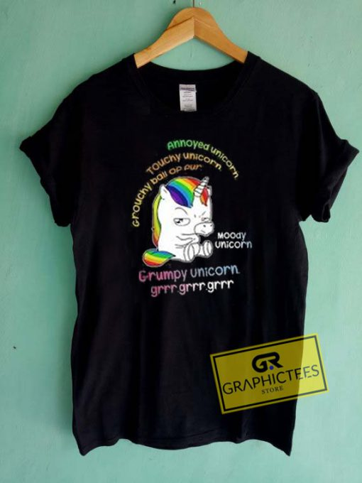 Grumpy Unicorn Graphic Tees Shirts