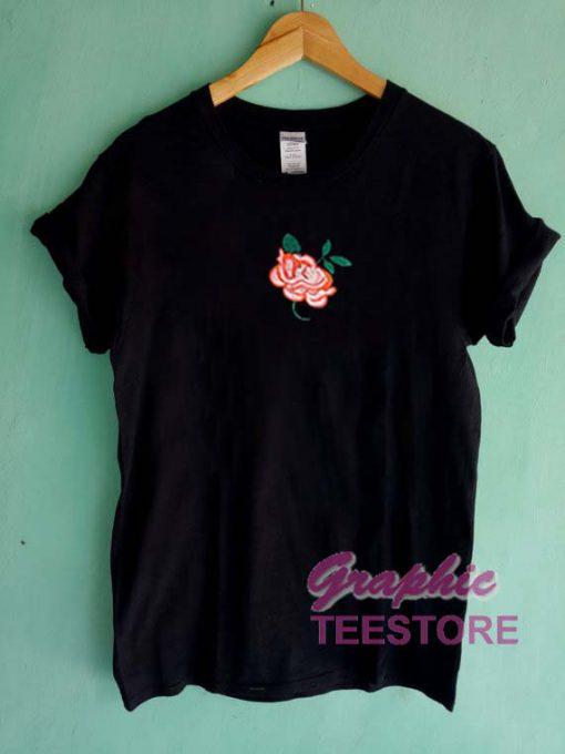 Grunge Rose Graphic Tee Shirts
