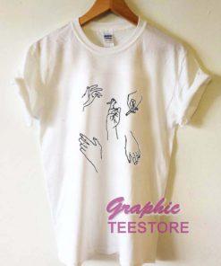 Hand Cigarette Graphic Tee Shirts