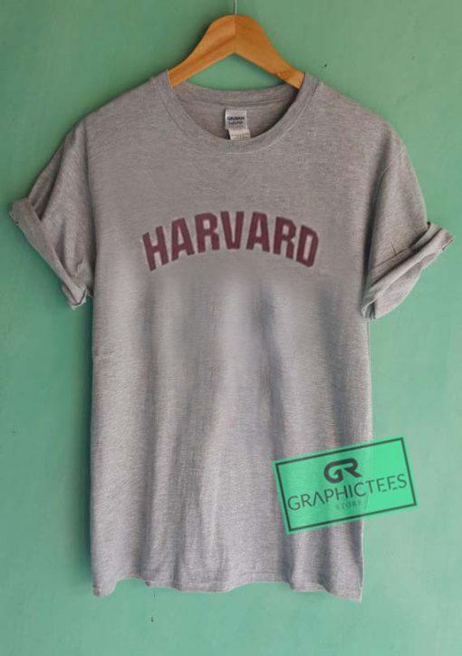 Harvard New Font Graphic Tees Shirts