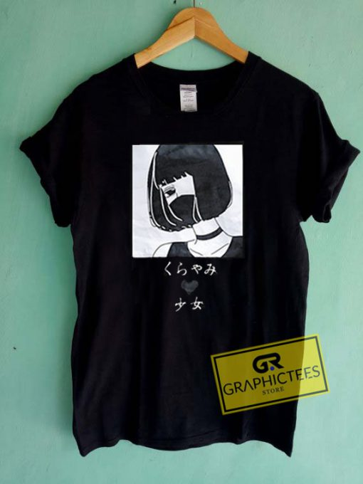 Japanese Girl Loose Graphic Tees Shirts