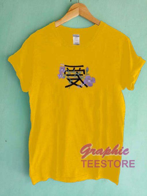 Japanese Purple Rose Graphic Tee Shirts
