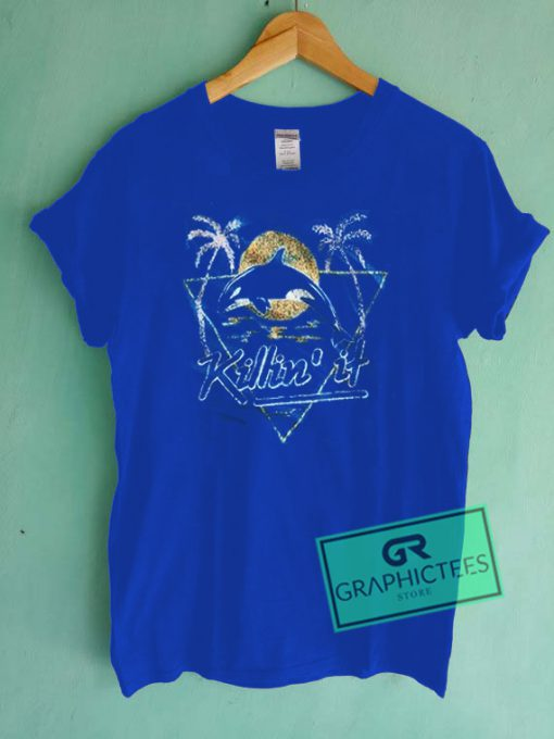Killin' It Dolphin Vintage Graphic Tees Shirts