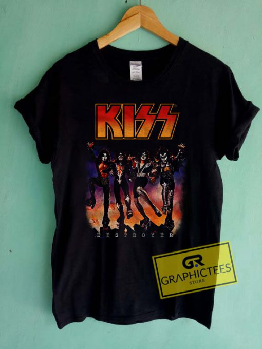 Kiss Destroyer Vintage Graphic Tees Shirts