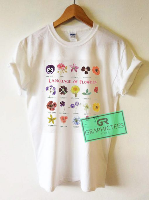Language Of Flowers Graphic Tees Shirts