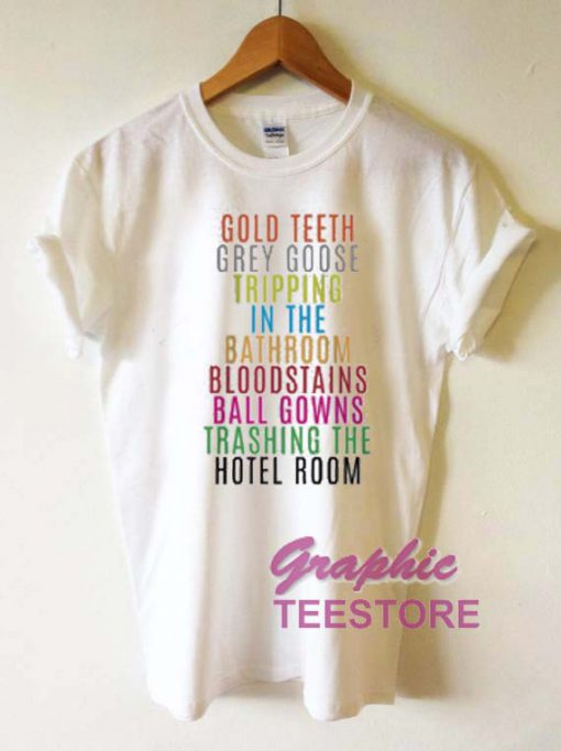 Lorde Royals Gold Teeth Grey Goose Graphic Tee Shirts