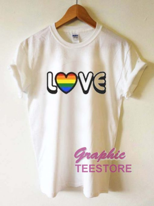 Love Rainbow Graphic Tee Shirts