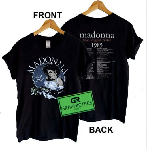Madonna The Virgin Tour 1995 Graphic Tees Shirts