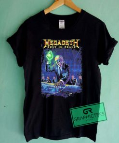Megadeth Rust In Peace Graphic Tees Shirts