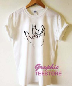 Metal Hand Sign Graphic Tee Shirts
