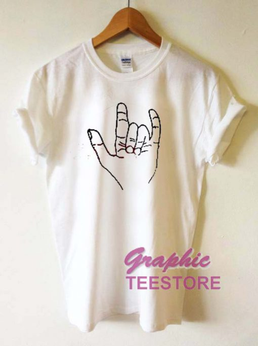 Metal Hand Sign Graphic Tee Shirts