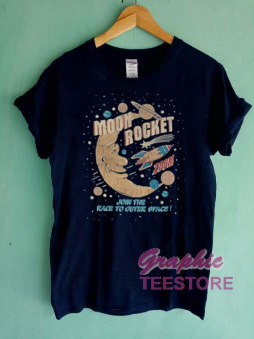 Moon Rocket Graphic Tee Shirts
