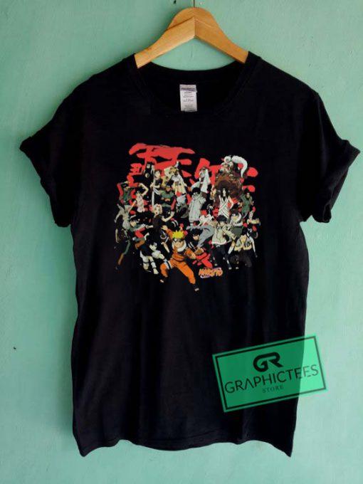 Naruto Characters Graphic Tees Shirts