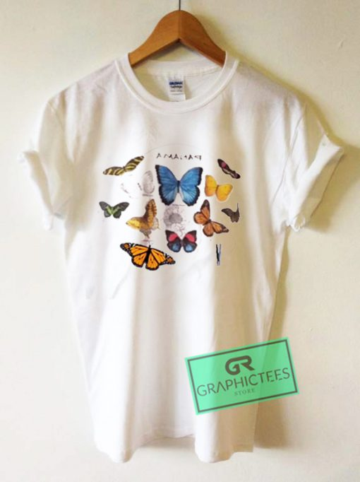 Panama Butterfly Graphic Tees Shirts