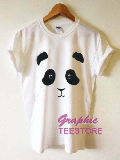 Panda Face Graphic Tee Shirts