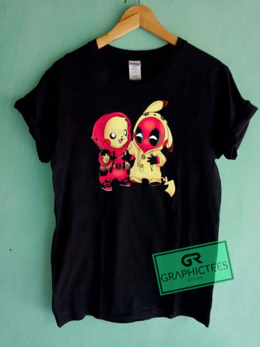 Pikachu Pokemon And Deadpoll Pikapool Graphic Tees Shirts