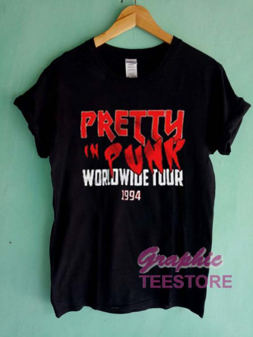 Pretty Punk Worldwide Tour 1994 Graphic Tee Shirts