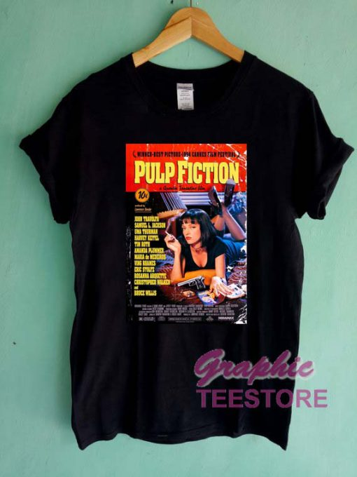 Pulp Fiction Cover Graphic Tee Shirts
