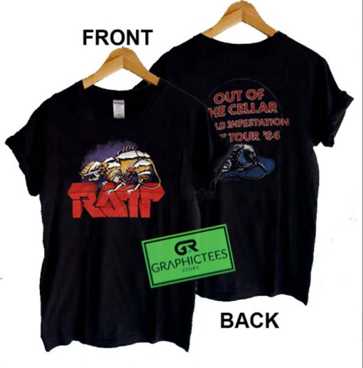 Ratt Tour 84 Out Of The Cellar Graphic Tees Shirts