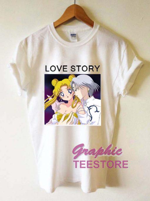 Sailormoon Love Story Graphic Tee Shirts