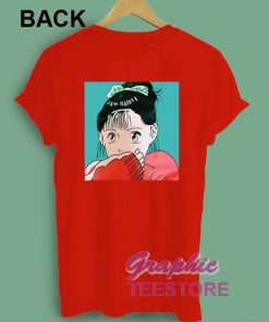Shy Girl Japanese Comic Graphic Tee Shirts