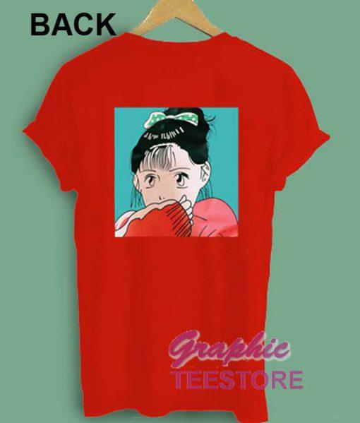 Shy Girl Japanese Comic Graphic Tee Shirts