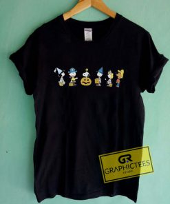 Snoopy And Charlie Peanuts Halloween Graphic Tees Shirts