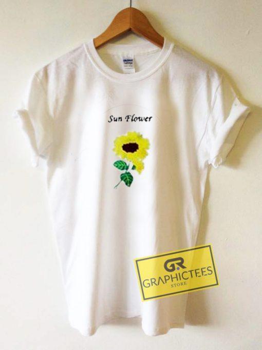 Sun Flower Graphic Tees Shirts
