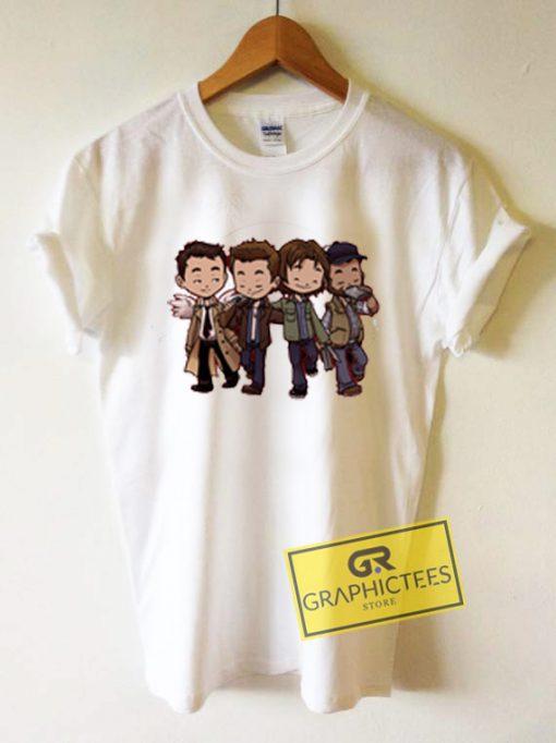 Supernatural Cartoon Graphic Tees Shirts