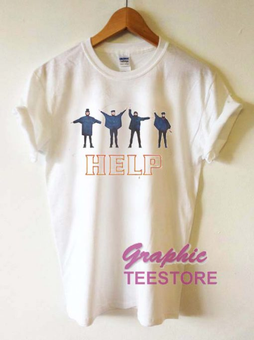 The Beatles Help Graphic Tee Shirts