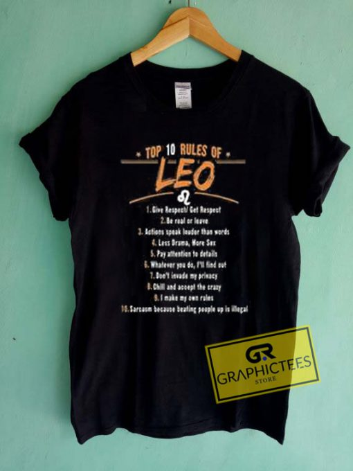 Top 10 Rules Of Leo Graphic Tees Shirts