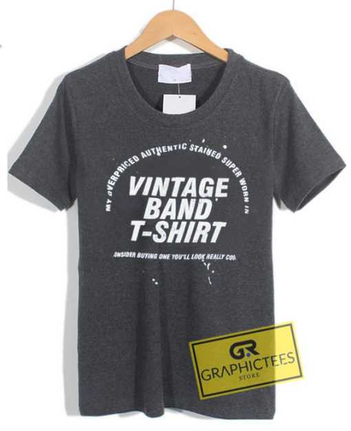 Vintage Band TShirt Graphic Tee Shirts