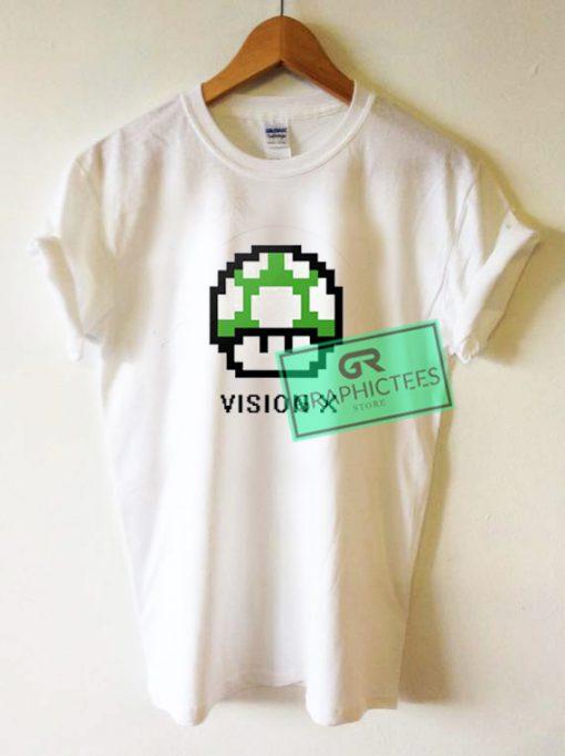 Vision X 8 Bit Video Game Nintendo Graphic Tees Shirts