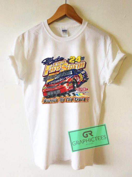 Vtg Jeff Gordon Fire Storm 24 Nascar Graphic Tees Shirts