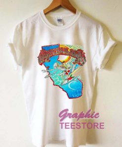 Grateful Dead Surfing Skeleton Graphic Tee Shirts