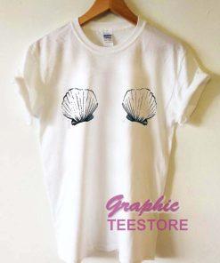 Sea Shell Bra Graphic Tee Shirts