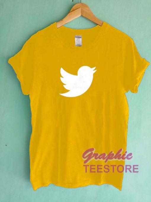 Twitter Logo Graphic Tee Shirts