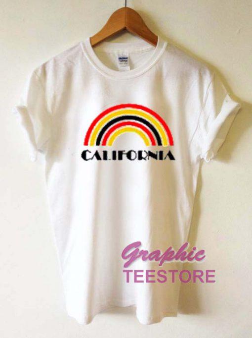 California Rainbow Graphic Tee Shirts
