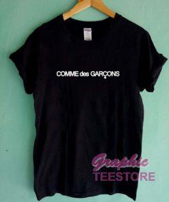 Comme Des Garcons Font Graphic Tee Shirts