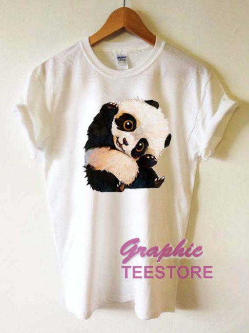 Cute Panda Graphic Tee Shirts