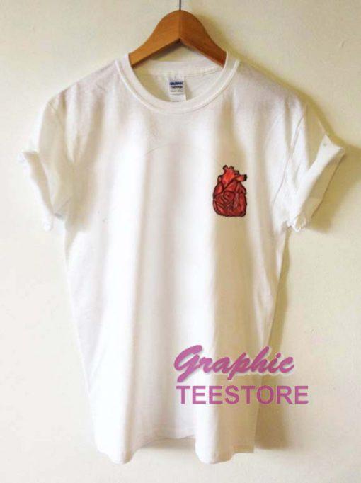 Heart Pocket Graphic Tee Shirts