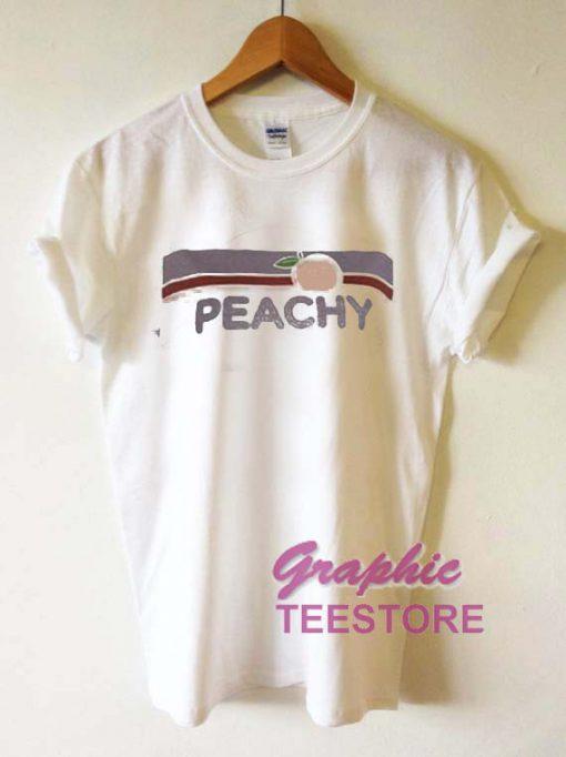 Peachy Logo Graphic Tee Shirts