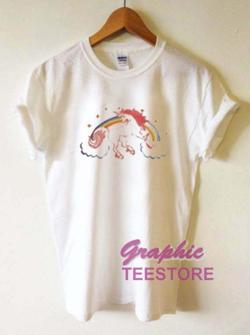 Pegasus Rainbow Graphic Tee Shirts