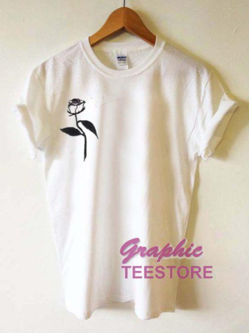 White Roses Graphic Tee Shirts