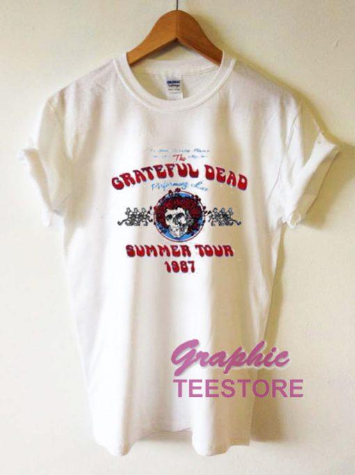 Grateful Dead Summer Tour 1987 Graphic Tee Shirts